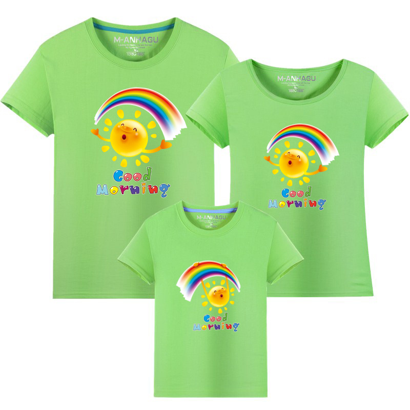 Summer Family Matching Outfits T shirt Mom Dad Son Daughter Rainbow T Shirts Family Mother Father Kids Matching outfits Tees (15)