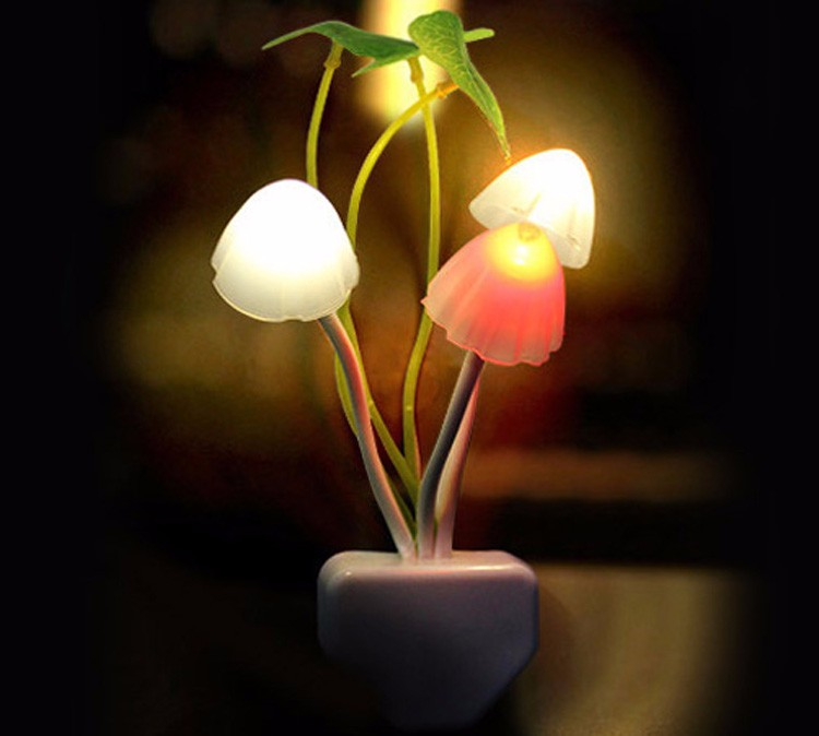 Mushroom Fungus Night Light EU & US Plug