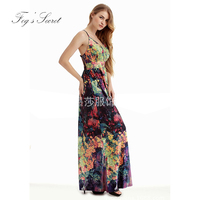 Large Size Sexy Long Dress For Female Women S Casual Bohemian Travel Beach Dresses Sleeveless