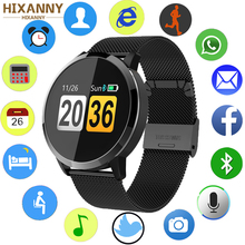 2019 New Q8 0.95 inch OLED Color Screen Watch Drink reminder Call Reminder Blood Pressure Heart Rate Smart for Android iOS