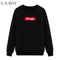 fashion fleece thicken hoodies High Quality 1: 1 Cotton Brand Savage Cotton Hoodies Sweatshirts Parody Heart X Savage Hoodie