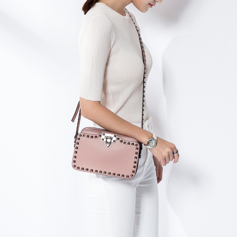 Vvmi bolsos leather woman shoulder bag crossbody bags Rivet gem packages mini flap bag 2016 summer mix color cloth art shoulder woman bag leisure packages exclusively for export national bag