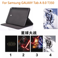 2016 новый 3 в 1 ИСКУССТВЕННАЯ Кожа Бизнес Стенд Tablet Cover чехол для samsung galaxy tab A 8.0 T350 T351 T355 + протектор экрана + стилус
