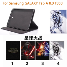 2016 new 3 in 1 PU Leather Business Stand Tablet Cover case for samsung galaxy tab A 8.0 T350 T351 T355+screen protector+stylus