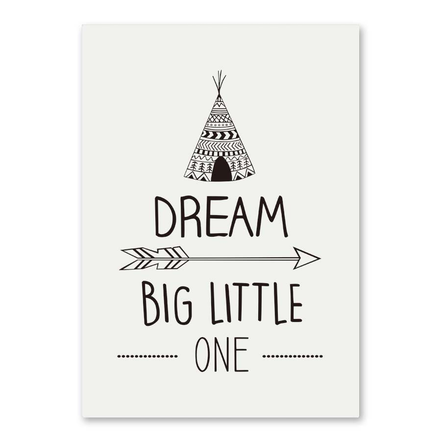 Dream Big Little One Inspirational Quotes Canvas Painting Minimalist  Picture Art Print Poster Modern Wall No Frame