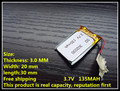 3.7V lithium battery 302030 032030 135mah MP3 MP4 GPS Bluetooth toys battery