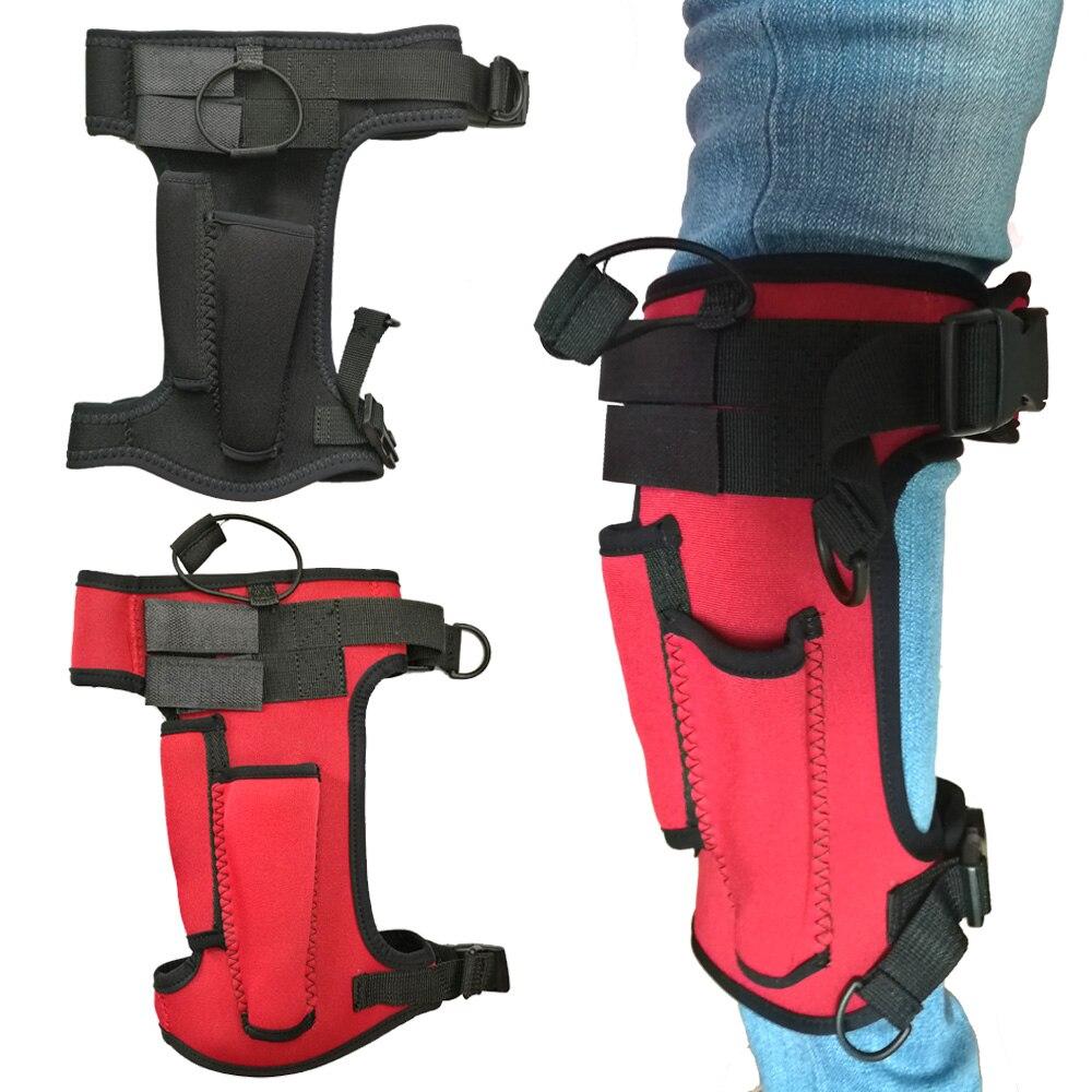 Black+Red Neoprene Dive Sheath Leg//Arm Holder Thigh Holster for Equipment