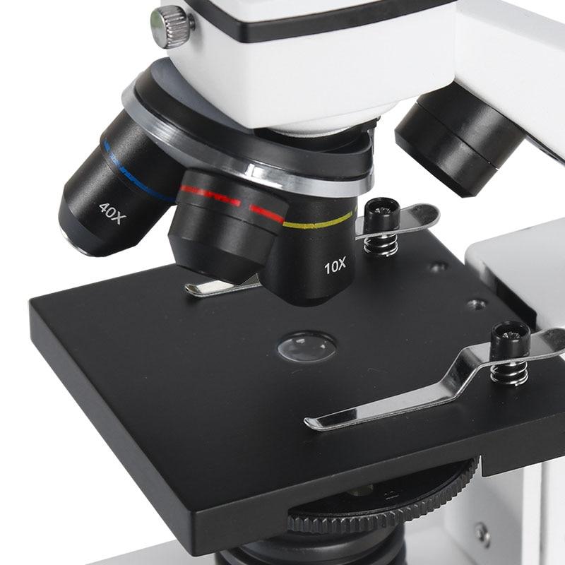Image 4 - AOMEKIE, профессиональный Биологический микроскоп 64X 640X, вверх/снизу, светодиодный, студенческий, научный, образовательный, лабораторный, домашний монокулярный микроскоп, подарок-in Микроскопы from Инструменты