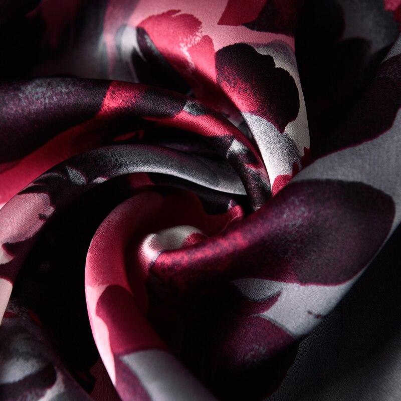 100% reiner Seide Schal Damen Luxus Marke 2019 Hangzhou Seide Schals und Wraps für Frauen Natürliche Echte Seide Schals Foulard femme - 4