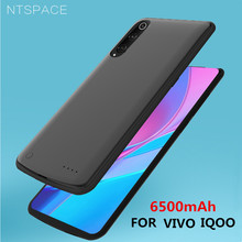 NTSPACE Power Bank Fast Charging Cover For VIVO IQOO Battery Case 6500mAh Ultra Slim Portable Back Clip Charger Cases