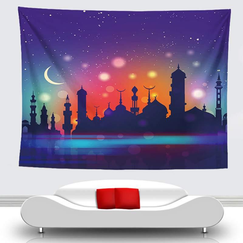 Creatief Prachtige Arabische Islamitische Eid Al-fitr Stijl Tapijt Patroon Verse Tapijt Muur Opknoping Deken Camping Tent Muur Decor