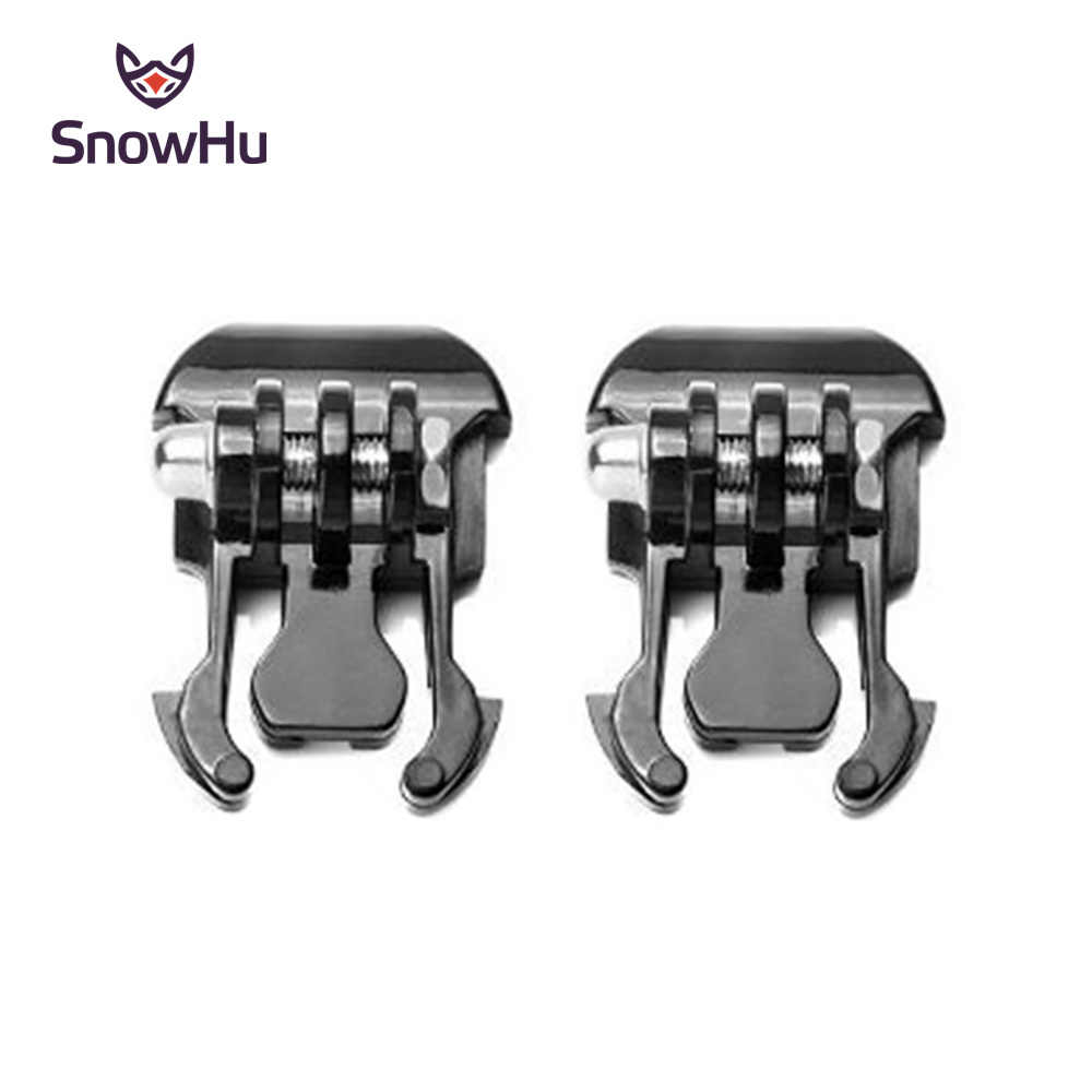 SnowHu 2 Pcs Camera Quick Pull Activity Base Mount For Gopro Hero 8/7/6/5/4/3 for SJCAM SJ4000 for SJCAM Xiaomi for yi 4K+ GP06