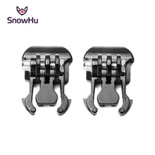 SnowHu 2 Pcs Camera Quick Pull Activity Base Mount For Gopro Hero 7/6/5/4/3/2 for SJCAM SJ4000 Xiaomi yi 4K+ GP06