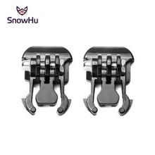 SnowHu 2 Pcs Camera Quick Pull Activity Base Mount For Gopro Hero 7/6/5/4/3/2 for SJCAM SJ4000 for SJCAM Xiaomi for yi 4K+ GP06
