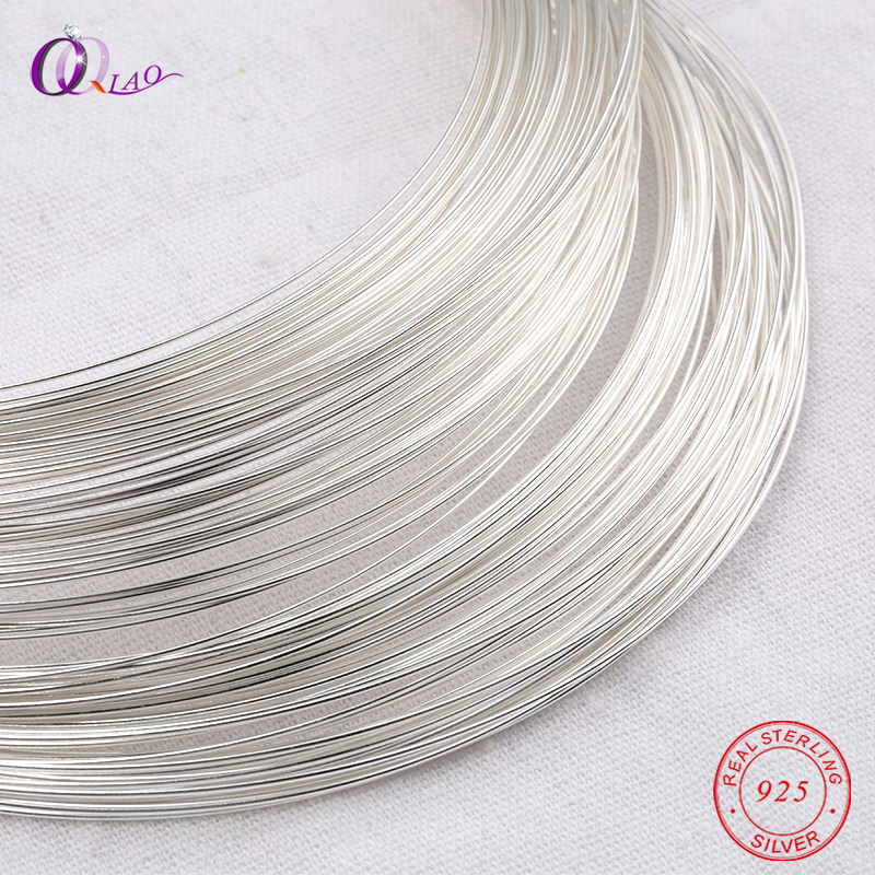 One meter 0.4-0.8mm 925 Sterling Silver wire metel thread silver string silver line for Necklace Bracelet Earring making