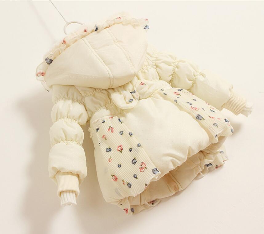 Nye Smukke Børn Piger Vintercoat Print Små Polka Dot Duck Down - Børnetøj - Foto 5