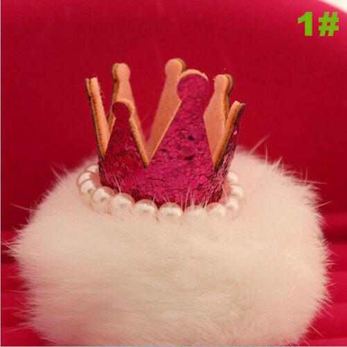 5190ae60f6c 12pcs lot Glitter Crown Furry Ball Accessories for jewelry hair headband  brooch bag shoes DIY gift decoration Multi color sh073-in Artificial    Dried ...