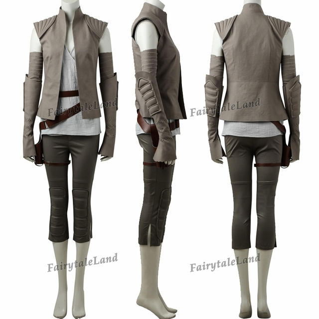 Star Wars The Last Jedi Rey Cosplay Costume Carnival Halloween Cosplay Rey Costume Star Wars suit Rey clothing Custom made 1