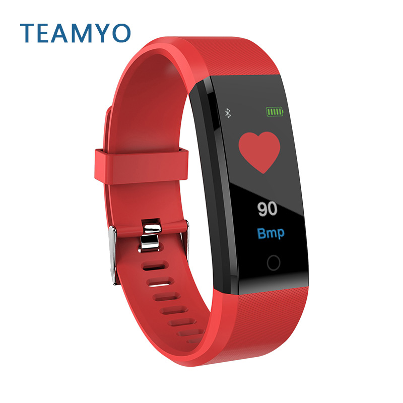 Teamyo B05 0.96 inch Color Screen Heart Rate Blood Pressure Monitor Smart Bracelet Pedometer Sport Fitness Watch for IOS/Android