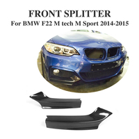 F22 Carbon Fiber Front Bumper Splitter Flaps Cupwings Fit for BMW M235i M240i F22 M Sport Coupe & Convertible 2014 2017