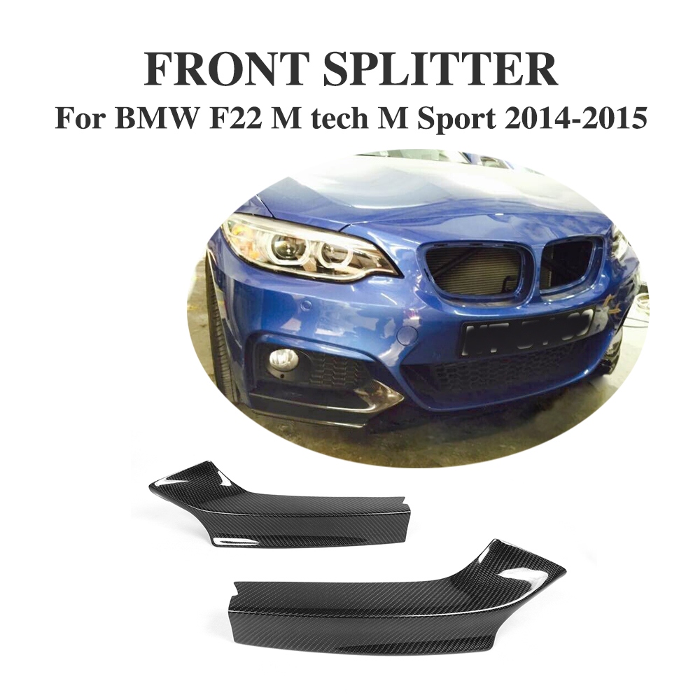 F22 Carbon Fiber Front Bumper Splitter Flaps Cupwings Fit for BMW M235i M240i F22 M Sport Coupe & Convertible 2014-2017 image