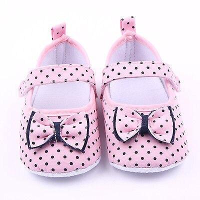 2016 Sıcak Güzel Sneakers Yenidoğan Bebek Beşik Ayakkabı Prenses Kız Bebek Yürüyor Yumuşak Sole Ayakkabı