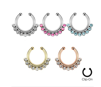 2015 Rushed Belly Button Rings U Shape Nose Rings Fake Navel Piercing Septum Ring Body Jewellery
