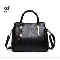 Ecosusi borse in pelle borsa delle donne di lusso borse delle donne alla moda delle signore della borsa solido nero shoulder bag bolsa feminina