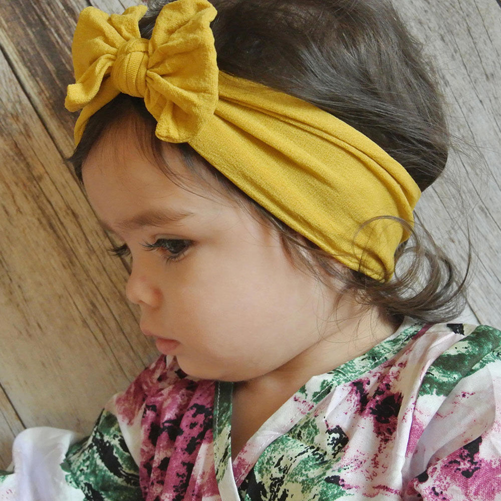 Apparel Accessories Girl's Hair Accessories Korea Ribbon Colorful Hair Bands Tie Knot Hairband Flower Crown Headbands For Girls Hair Bows Hair Accessories D