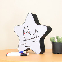 LED Star Light Box DIY Pentagram Cinema Handwriting Table Desk Lamp Home Christmas Decoration Battery USB Operated(China)