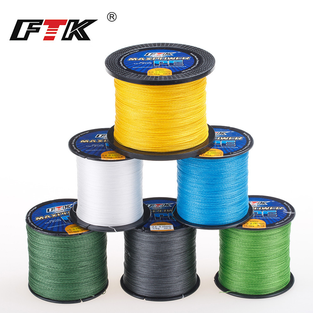 TP500M/547Yds Super PE Braided Multifilament Fishing Line 8LB 13LB 20LB 40LB 50LB 70LB Braided Line Carp Fishing