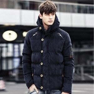 Image 3 - BOLUBAO yeni kış erkekler Parka ceket kış moda marka erkek kaliteli yastıklı kalın sıcak tutan kaban erkek pamuk kapşonlu Parkas