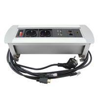 2019 New socket with 2 Power  2 USB Charger  2 LAN and HDMI Desktop socket for conference room/office/other