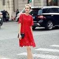2017 moda verão rendas das mulheres dress escavar vestidos longos mulheres sexy magro party dress vestido vintage dress