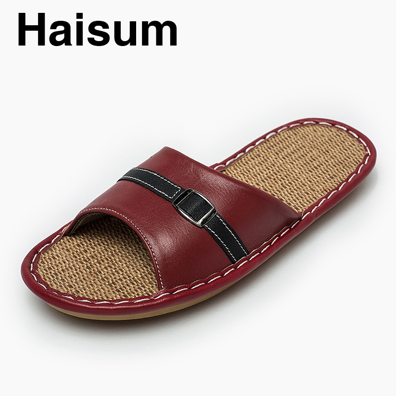 Ladies Slippers Summer genuine Leather Linen Woven Breathable Home Indoor Non-slip Slippers 2018 New Hot Haisum Tb010 ladies slippers summer genuine leather linen woven breathable home indoor non slip slippers 2018 new hot haisum tb010