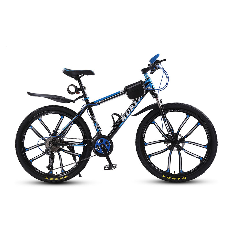 Mountain  Bike 10-Blade  One  Wheel  Shock  Absorber  Boys  And  Girls  Adult  Mountain  Bike.
