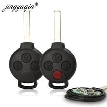 أزرار jingyuqin 3/4 مفتاح تحكم عن بعد مناسب لسيارة Mercedes-Benz Smart Fortwo 451 2007 2008 2009 2010 2011 2012 2013 433Mhz ID46