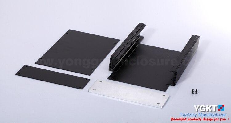 180*60-220mm (L X H-D) extrudé noir boîtier en aluminium/aluminium boîtiers électroniques