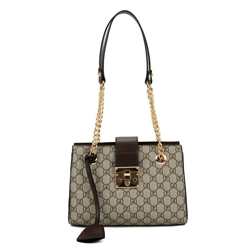 Europe And America Casual Female Bag 2018 Spring Summer New Shoulder Bag, Chain Printed Handbag Girl,national Crossbody Bags