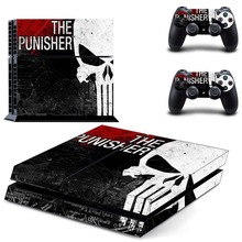 The Punisher PS4 Skin Sticker for PS4 Playstation 4 Console +Two Controllers Vinyl Decal Stickers
