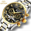 Luxury Brand KINYUED Men Mechanical Watches Stainless Steel Alloy Waterproof Sapphire Leather Strap Men S Leisure