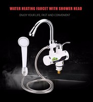 New GZU Electric Water Heater For Kitchen Bathroom Tankless Water Heater LCD Temperature Display Heating Faucet