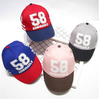 Children Baseball Caps Letters Printed Summer Hat For Baby Girls Boys Hip Hop Streetwear Fashion Style