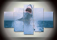 5 panle HD print painting modern Home Decor wall art picture for living room Shark canvas Print group painting canvas art F0264