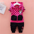 2016 spring and Autumn period, the children's round point Minnie sports wear cute long sleeved jacket and pants cartoon suit