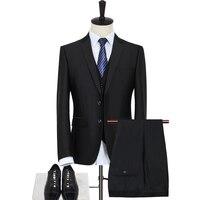 Jacket+Pant+Vest Three Piece Suit Business Suits Fashion Dress Men's Brand Jackets Suits Formal Wear High Quality Gent Life