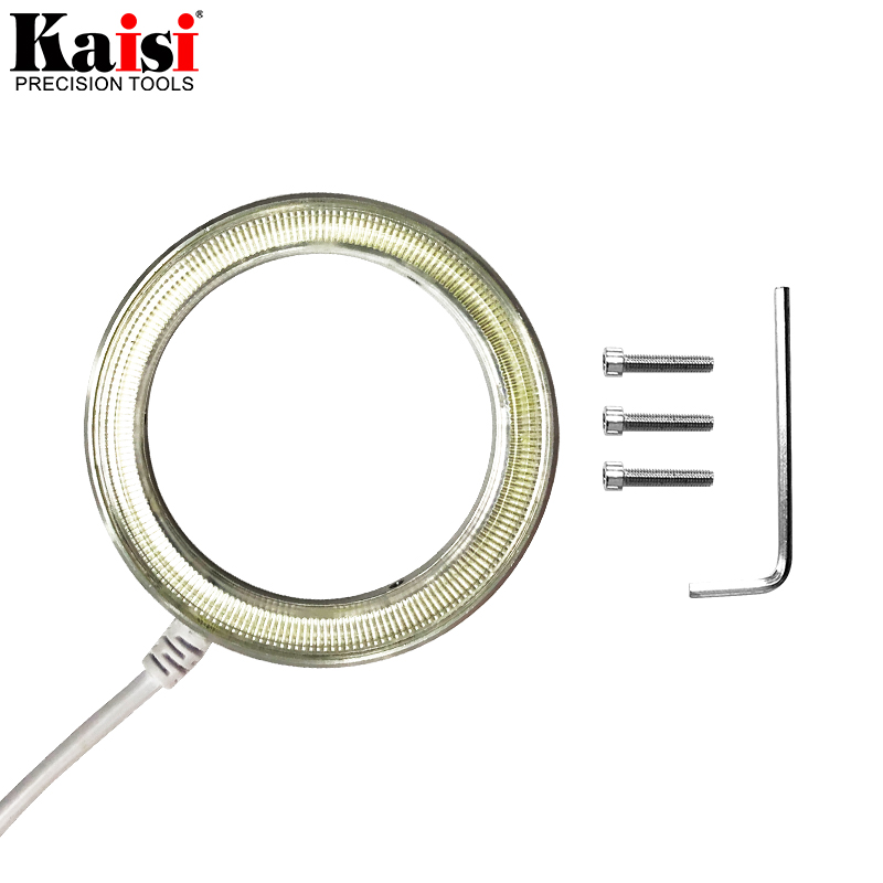 Image 2 - Kaisi Ultrathin 60 LED Adjustable Ring Light illuminator Lamp For STEREO ZOOM Microscope USB Plug-in Microscopes from Tools