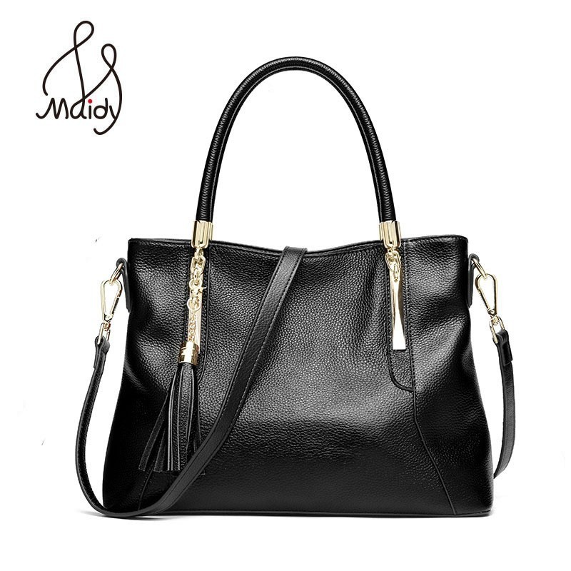 Cow Genuine Leather Bag Handbag For Women Tote Ladies Designer Handbags High Quality Bags Crossbody Messenger Bag Shoulder Maidy стоимость