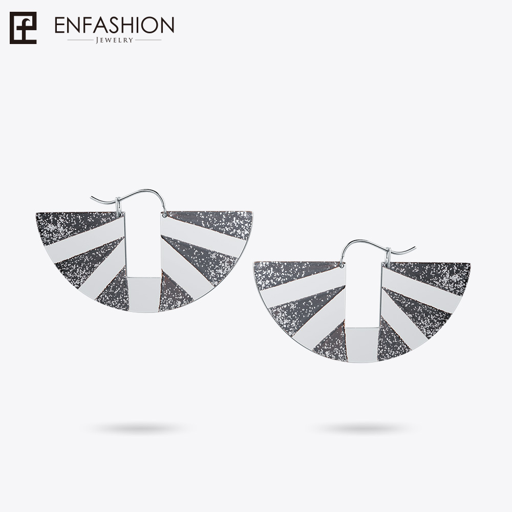 Enfashion Lacquer Art Series Timeless Drop Earrings Original Design Stainless Steel Earring Classic Geometric Earrings EBQ18LA30 three button design drop earrings