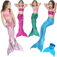 Girls Mermaid Tails For Swimming Kids Mermaid Costumes Swimmable Zeemeerminstaart Met Monofin Cauda De Sereia Children